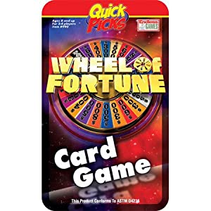 Quick Picks Wheel of Fortune Travel Card Game in a Tin