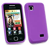 EMARTBUY SAMSUNG S5250 WAVE 525 LCD SCREEN PROTECTOR AND SILICON CASE/COVER/SKIN PURPLE