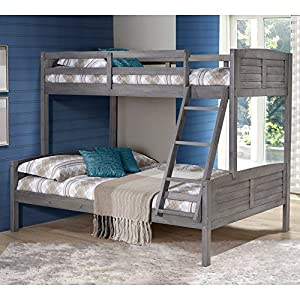 Donco Louver Twin over Full Bunk Bed - Antique Grey