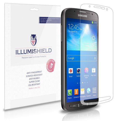 Illumishield - Samsung Galaxy S4 Active Screen Protector Japanese Ultra Clear Hd Film With Anti-Bubble And Anti-Fingerprint - High Quality (Invisible) Lcd Shield - Lifetime Replacement Warranty - [3-Pack] Oem / Retail Packaging