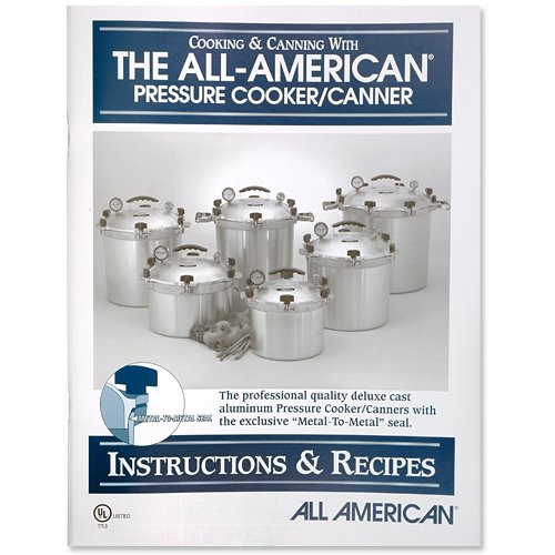 All American pressure cooker instruction and recipe book. image