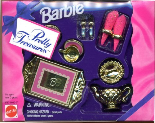 Barbie Pretty Treasures Gold Dinner Set - 1