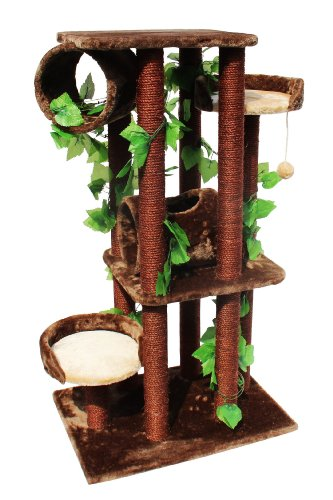 Kitty Mansions Oak Cat Tree
