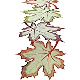 DII Thanksgiving Holiday Embroidered Table Runner 14 x 60 , Maple Leaves