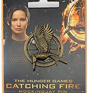The Hunger Games Catching Fire Mockingjay Prop Pin / Badge Katniss