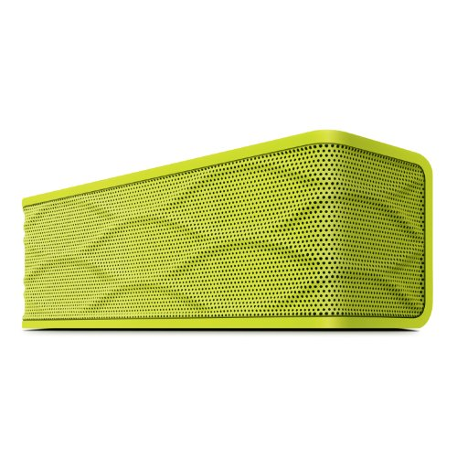 Merkury Frequency Portable Wireless Stereo Bluetooth Speaker With Built In Microphone / Speakerphone & 8 Hour Rechargeable Battery (Neon Green)