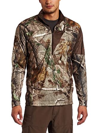 Rocky Mens Silent Hunter 1 4 Zip Long Sleeve Shirt by Rocky