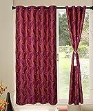Kings Polycotton 1pcs Purple Floral Window Curtains