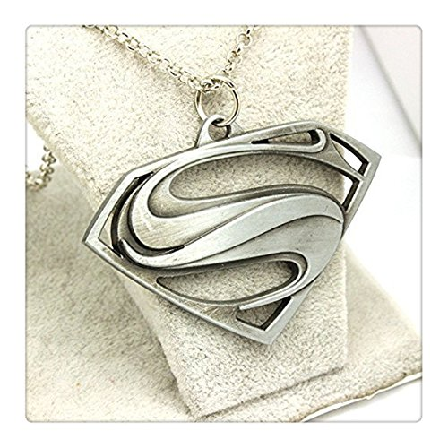 Superman Logo Silver Necklace
