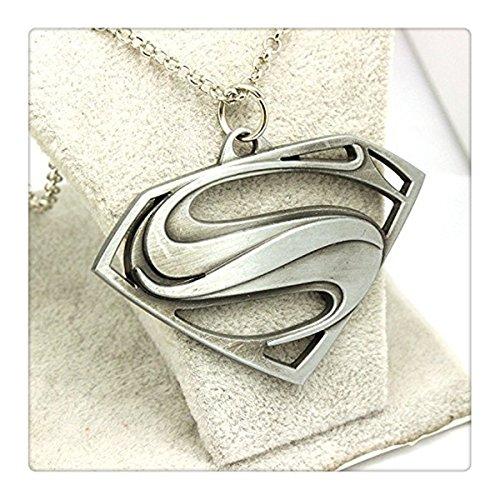 Superman Logo Silver Necklace