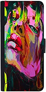 Snoogg Shyla Painting Graphic Snap On Hard Back Leather + Pc Flip Cover Moto-X2