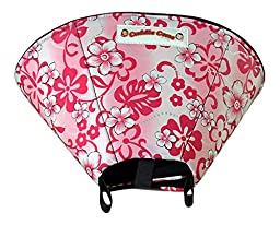 Cuddle Cone Soft E-collar, Large - Pink Hawaiian