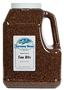 Harmony House Foods Textured Vegetable Protein (TVP) Taco Flavored Bits (3.75 lbs) by Harmony House Foods, Inc.