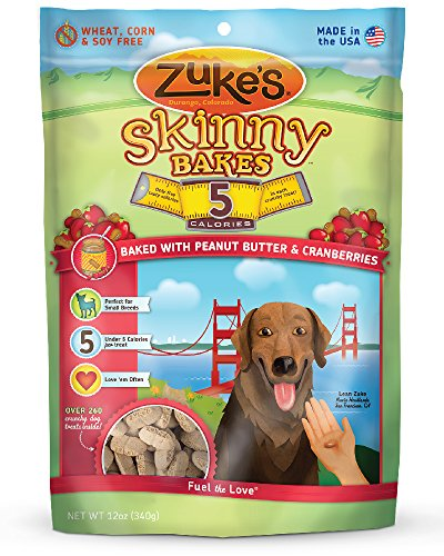 Zuke's Skinny Bakes Dog Treats, Peanut Butter and Cranberries, 5-Calories, 12-Ounce (Bake Dog Treats compare prices)