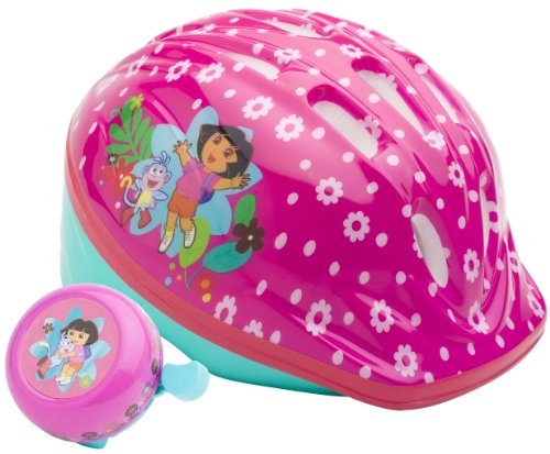 Dora Unisex-Child Microshell Helmet with Bell (Pink)