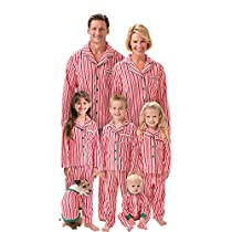 Candy Cane Fleece Matching Family Pajamas 5T