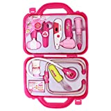 Kids Doctor Nurse Playset Kit Of 9 Pieces - Pink - 1c165 - Learning And Interactive Toys For Children (Age: 3+)