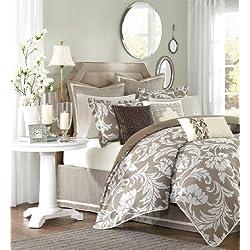 Hampton Hill Belville Polyester Jacquard 9-Piece Comforter Set, Queen, Multi
