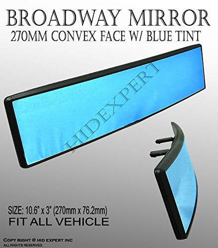 JDM Broadway 270mm Curve Convax Blue Tinted Clip On Rear View Mirror Universal hot YE9 (2004 Toyota Solara Mirror Silver compare prices)