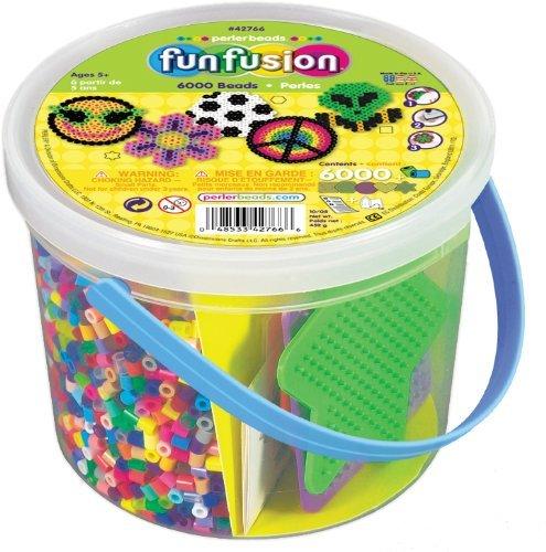 6,000 Beads - Perler Beads 6,000 Count Bucket-Multi Mix