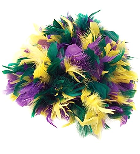 Mardi Gras Feather Costume Wig - Feather Wig For Mardi Gras Costume
