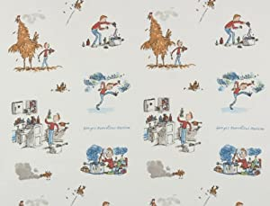 Roald Dahl George Marvellous Medicine Fabric Sold By The Metre