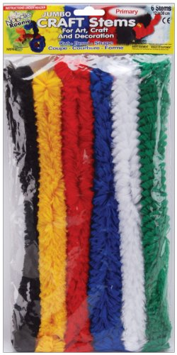 Pepperell Noodle Roonie Jumbo Craft Stems, 12-Inch, 6 Per Package