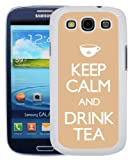 Samsung Galaxy S3 i9300 Fun, Funny, Cool Keep Calm And Carry On Case/Cover + Screen Protector