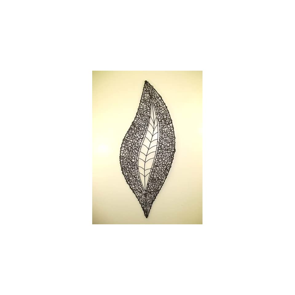 Wrought Iron Leaf Wall Decor Large on PopScreen