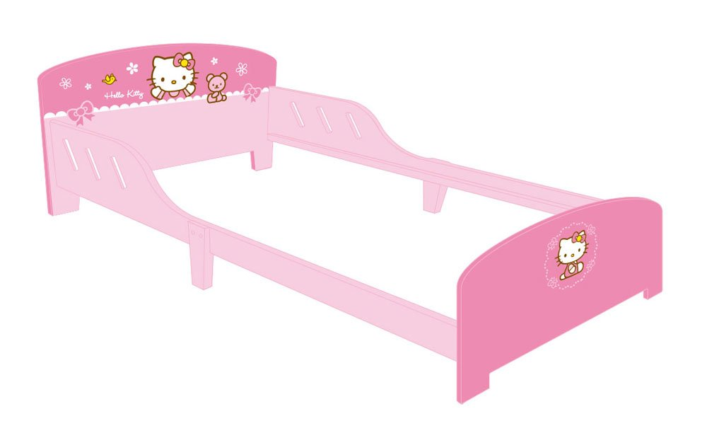 Jemini – 711 936 – Möbel und Dekoration – Bed Holz – Hallo Kitty – 190 x 90 cm
