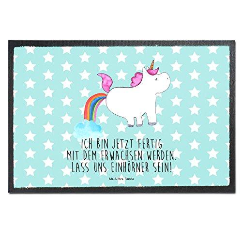 Mr-Mrs-Panda-Paillasson-Impression-Licorne-pupsend-100-Handmade-Velour-Licorne-Unicorn-arc-en-ciel-paillettes-Pups-paillettes-licorne-Power-Devenir-adulte-licorne-Amour-Paillasson-paillasson-tapis-de-