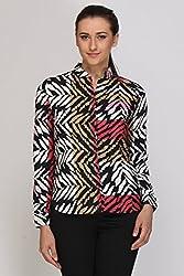Kaaryah - Black Printed Full Sleeves Shirt