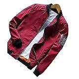 SemiAugust(セミオーガスト)メンズ 春秋 カジュアルジャケット シンプルタイプブルゾン 紳士風 通勤 男性用 カラーはレッド サイズはL