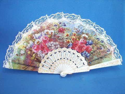 White Lace Spanish Hand Fans