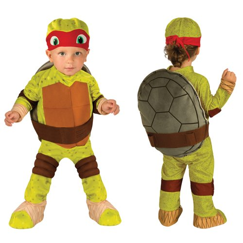 Nickelodeon Ninja Turtles Raphael Romper Shell and Headpiece, Green, Toddler ( 1-2 Years )