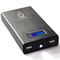 Intocircuit 15000 mAh 4.8A Dual USB Portable Charger External Battery Pack with SmartID Technology
