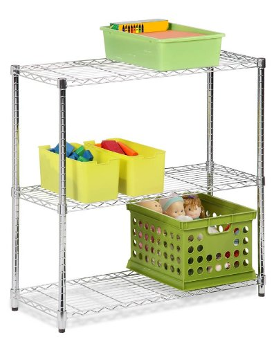 Honey-Can-Do Shf-01606 3-Tier Shelving Holds 200-Pound Per Shelf, 48-Inch, Steel Frame