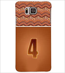 PrintDhaba Numerology Number 4 D-3636 Back Case Cover for SAMSUNG GALAXY ALPHA (Multi-Coloured)