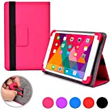 Cooper Cases (TM) Infinite Elite Kobo Arc 7 / 7 HD Tablet Folio Case in Hot Pink (Universal Fit, Built-in Viewing Stand, Elastic Strap Cover Lock)