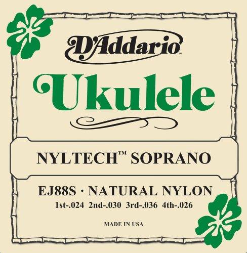 D'Addario EJ88S Nyltech Ukulele Strings, Soprano