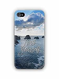 YuBingo Trust Yourself Designer Mobile Case Back Cover for Apple iPhone 4S