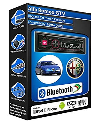 Alfa Romeo GTV autoradio Alpine UTE 72BT-kit mains libres Bluetooth pour autoradio stéréo