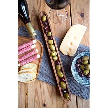 Gourmet Olive Canoe, Acacia Wood