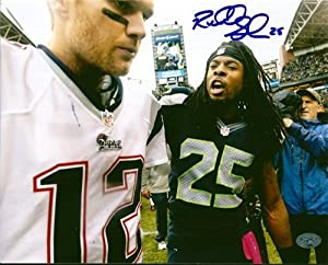 Richard Sherman Autographed Hand Signed Seattle Seahawks 8x10 Photo With Tom Brady RS... by Hall of Fame Memorabilia