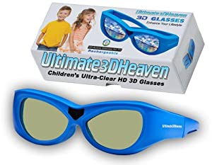 Kids PANASONIC TY-ER3D4MU Compatible 3D Glasses Children's Ultra-Clear HD for 2012 & 2013 3D TV's (Bluetooth/RF) Rechargeable