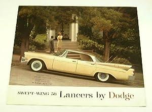 1958 58 Dodge LANCER BROCHURE Coronet Custom Royal