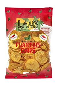 Lams Hot Plantain Chips Case Of 24 - 25 Oz Bags by Lam Foods Inc