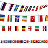 G2Plus International Flags, 164 Feet 8.2'' x 5.5'' World Flags, 200 Countries Olympic Flags Pennant Banner for Bar, Party Decorations, Sports Clubs, Grand Opening, Festival Events Celebration (Color: 200 Countries, Tamaño: 8.2'' L x 5.5'' W)