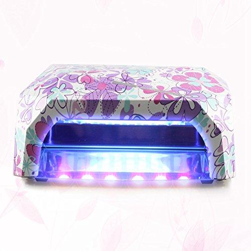 Gellen Pro 36W Nail Dryer UV LED Light / Lamp Suitable UV Gel Polish Quick Dry Home Use Manicure Machine Color #Romantic Flowers