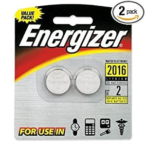 Energizer 2016 3V Lithium Button Cell Battery Retail Pack - 2-Pack